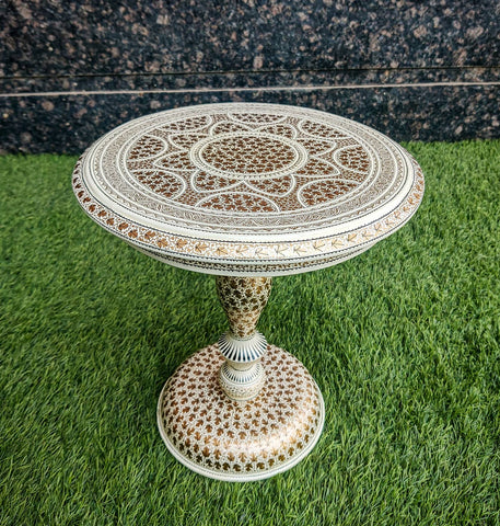 ORIGINAL HANDCRAFTED AND HAND PAINTED KASHMIRI CHINAR TABLE