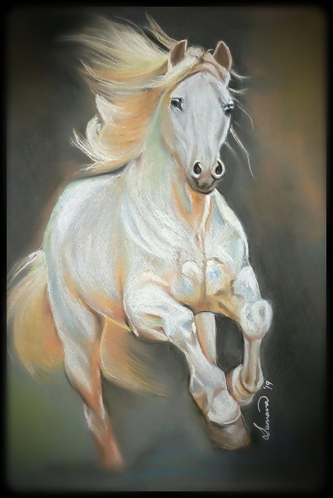 Handmade Original Color Pencil Portrait Horse Dailydesignist