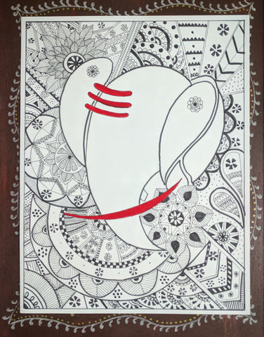 ORIGINAL HANDMADE ZENTANGLE GANESHA