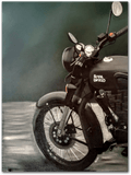 ORIGINAL HANDMADE ROYAL ENFIELD PAINTING