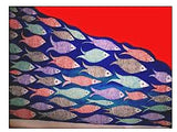 ORIGINAL HANDMADE FISH PATTERN MADHUBANI PAINTING