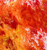 ORIGINAL HANDMADE FLAMES ACRYLIC WALL ART