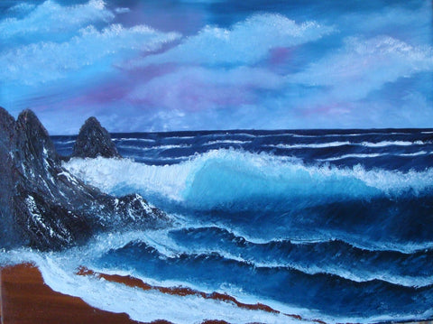 ORIGINAL HANDMADE SEASIDE HARMONY PAINTING