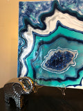 3D HANDMADE ABSTRACT GEODE RESIN WALL ART