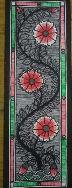 ORIGINAL HANDMADE TREE OF LIFE MADHUBANI PAINTING