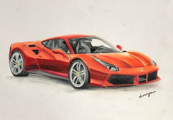 3D ORIGINAL HANDMADE COLOR PENCIL SKETCH