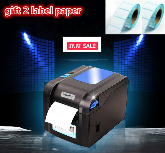 2016new Gift2 labels paper+370B label printer clothing tags supermarket price sticker printer Support for printing 22-80 mm widh