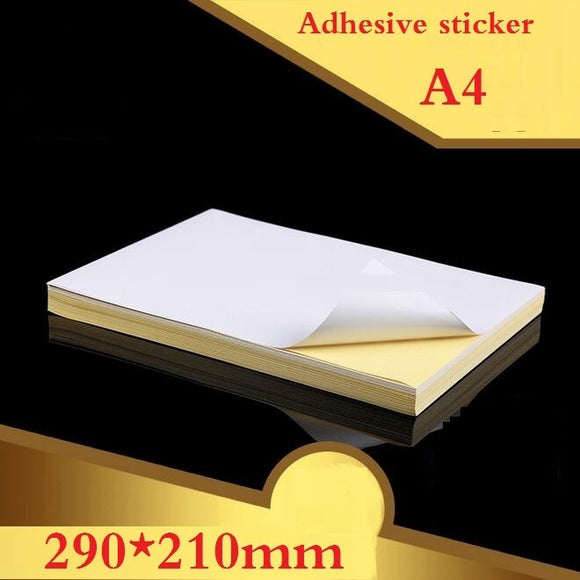 100pieces A4 White blank Self Adhesive Paper for Laser Inkjet Printer Packaging Label  Sticky Kraft Paper