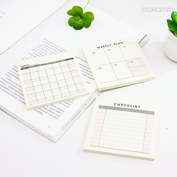 1 Pcs Daily Weekly Monthly Desk Diary Planner Stickers Planner Planning Pads To Do List Checklist Memo Pad Post It Paper Office