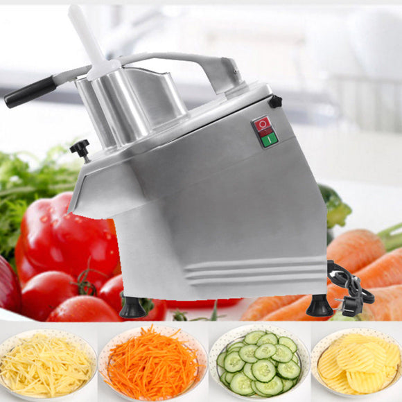 (Ship from DE) 220V 550W Continuous Vegetable Prep Machine Vegetable Cutting Shredders Commercial Slicer Cutter 4 Discs