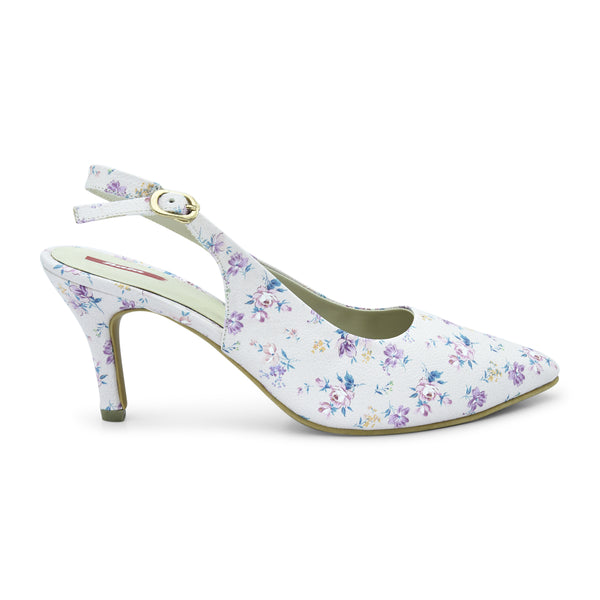 Grace Floral Pointed-Toe Heel for Women - batabd
