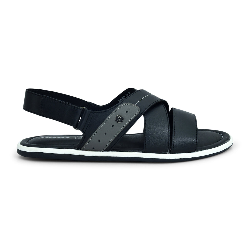 Bata Black Sandal for Men - batabd