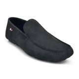 Black Suede Casual Loafer by Bata - batabd
