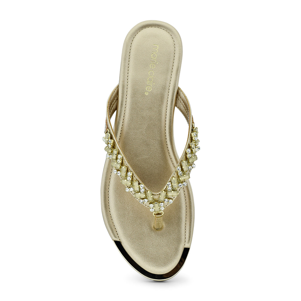 Marie Claire Bling-On Toe-Post Flat Sandal