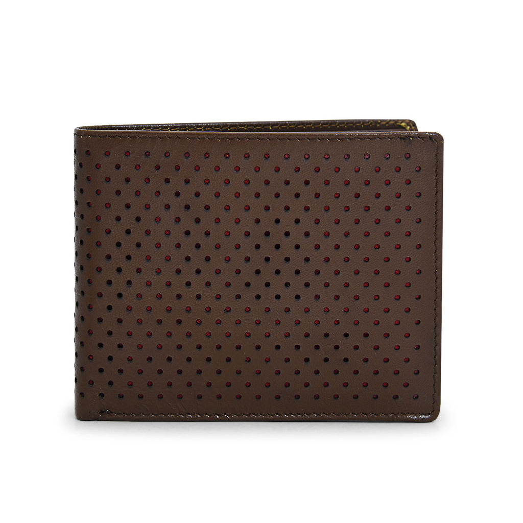 Trendy Leather Wallet in Brown color for Men - batabd