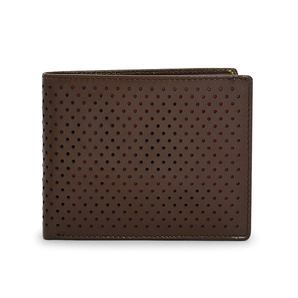Trendy Leather Wallet in Brown color for Men