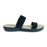 Comfit Dual Strap Sandal in Black for Women