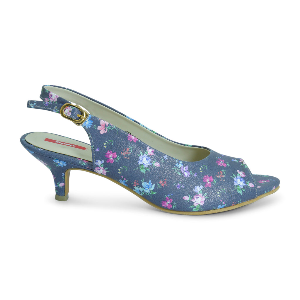 Grace Floral Kitten Heel for Women - batabd