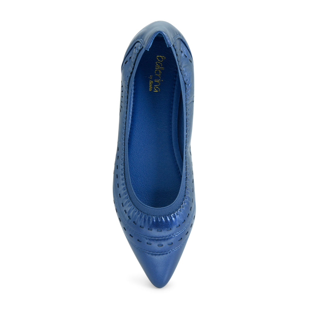 Pointy Ballet Flat in Blue - batabd