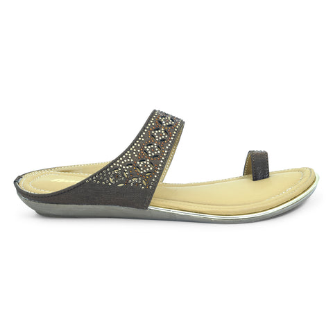 Ladies Flat Fashion Ethnic Sandal