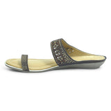 Ladies Flat Fashion Ethnic Sandal - batabd