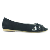 Bata Black Ballerinas for Women - batabd