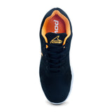 Wave Molle Black-Orange Sneaker for Men - batabd