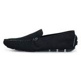Men's Black Loafer Shoe in Suede Leather - batabd