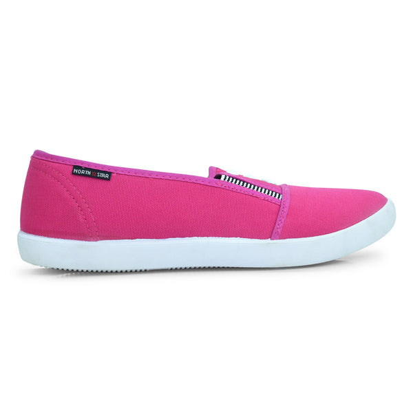 North Star Pink Canvas Sneaker for Girls - batabd