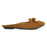 Suede Open-back Mule-Flats for Women