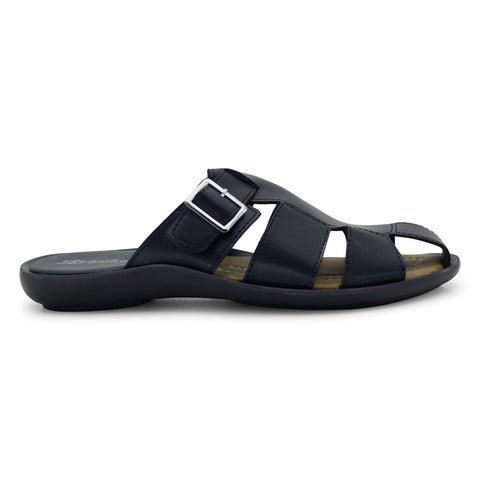 Bata Black Men's Chappals - batabd