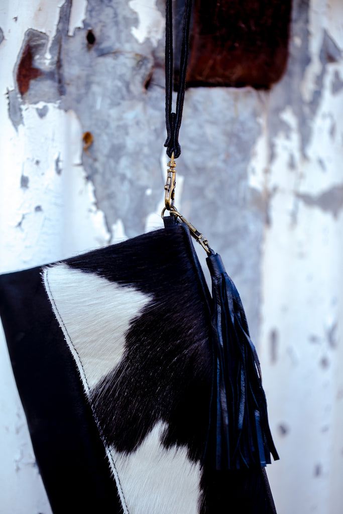 Fur Fold-Over Clutch