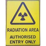 Radiation Area Sign - NDT Sales Australia