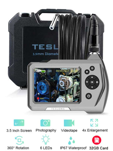 "Borescope Inspection Camera - NTS150 1.0MP HD 3.5"" LCD Monitor"