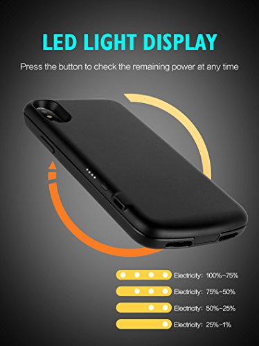 MUSTTRUE For iPhoneX 2017 Power Case 3000Mah
