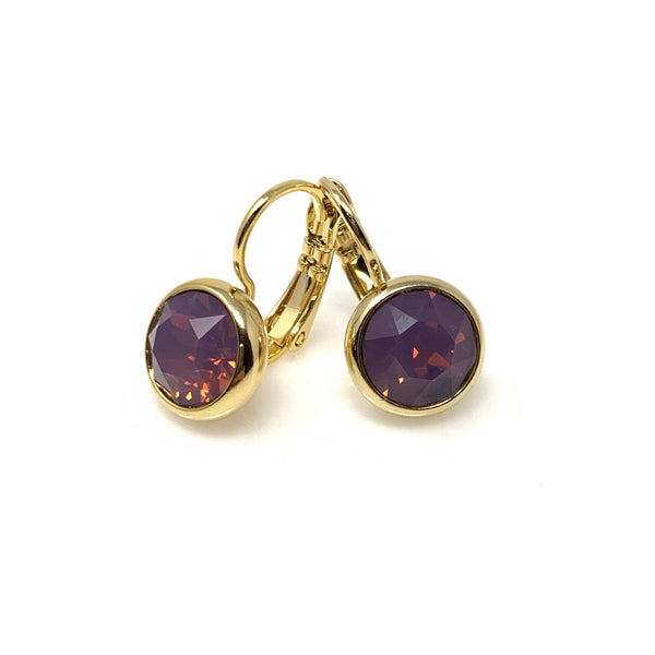 Amethyst Dangle Earrings, Earrings - www.thestoneflower.com