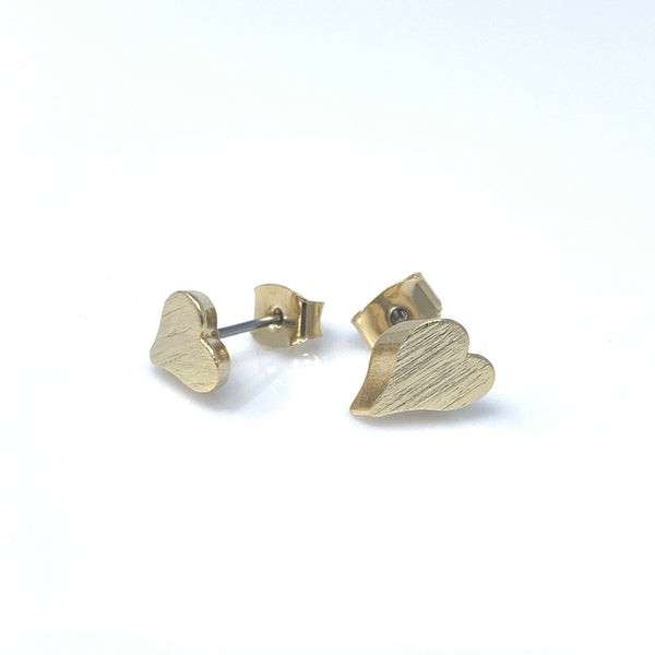 3D Heart Stud Earrings, Earrings - www.thestoneflower.com