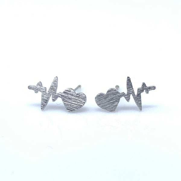 Heart Beat Stud Earrings, Earrings - www.thestoneflower.com