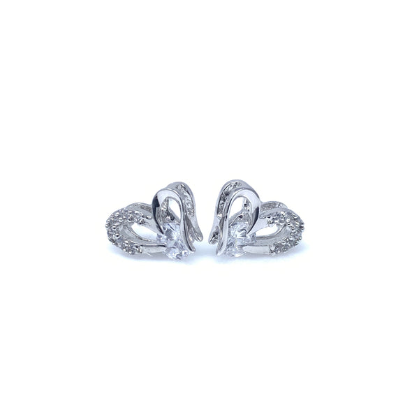 Crystal Heart Stud Earrings, Earrings - www.thestoneflower.com