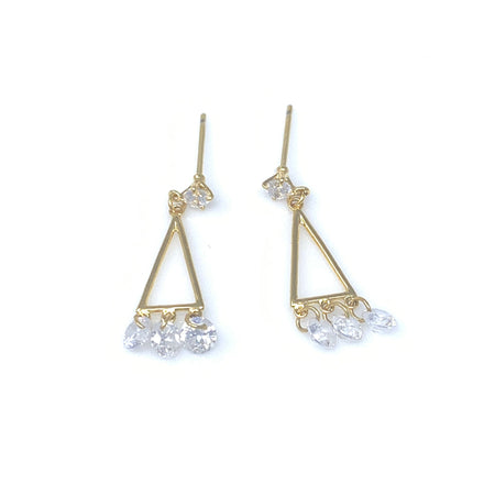 Star Linear Chain Drop Earrings