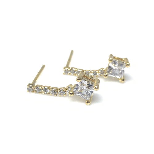 Cubic Dangle Earrings, Earrings - www.thestoneflower.com
