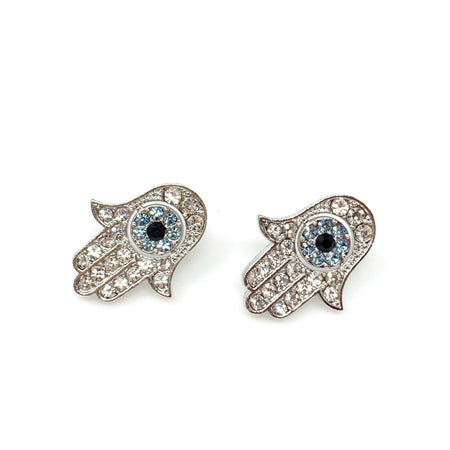 Diamond Squirrel with Nut Post Earrings