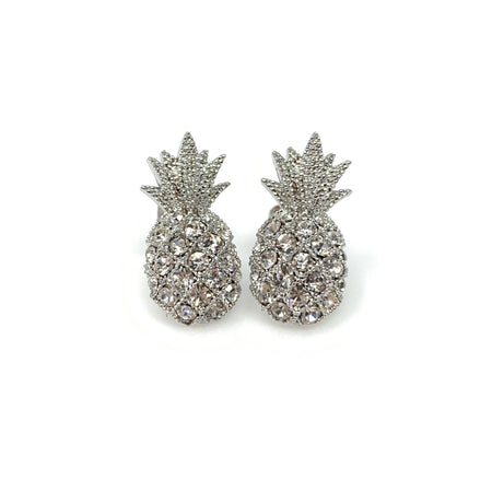 Faux Pearl Rounded Diamond Post Earrings