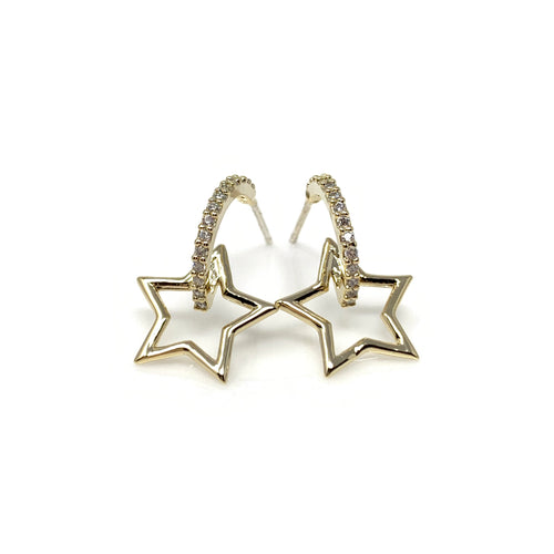Star Emblem Post Earrings
