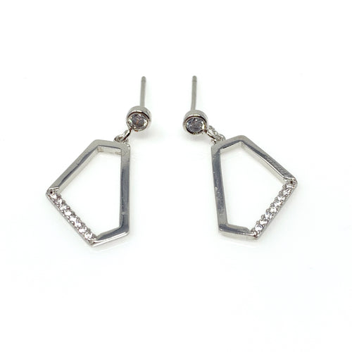Crystal Bar Dangle Earrings, Earrings - www.thestoneflower.com
