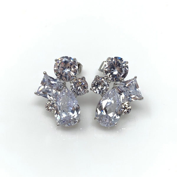 Diamonds Post Earrings, Earrings - www.thestoneflower.com