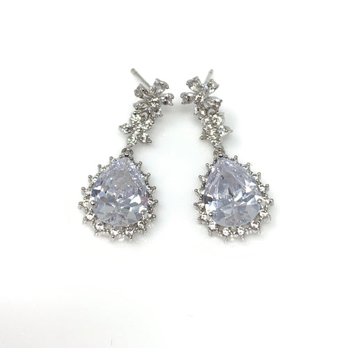 Vintage Oval Diamond Earrings, Earrings - www.thestoneflower.com