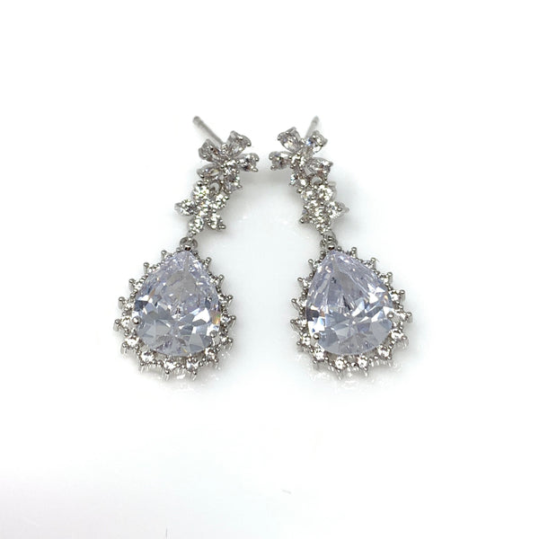 Vintage Oval Diamond Earrings