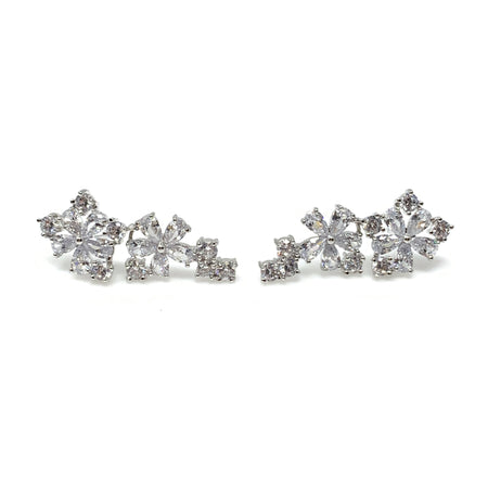 Diamond& Pearl Post Earrings