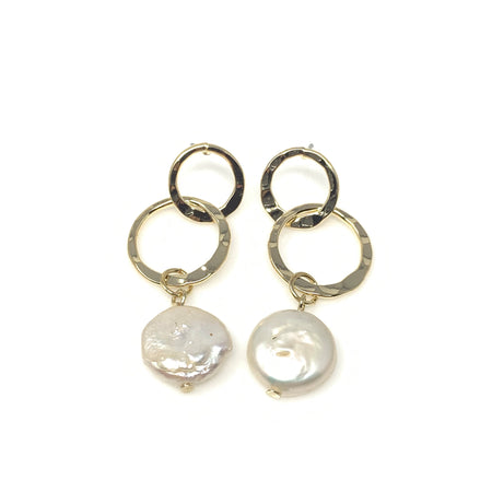 Gold Dear Horn Post Earrings
